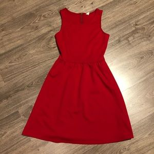 Old Navy red fit and flare dress
